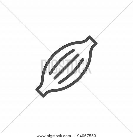 Muscle line icon isolated on white. Vector illustration