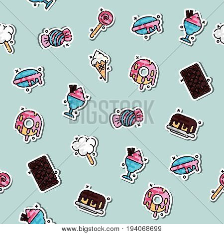 Confectionary concept icons pattern. Design concept. Vector illustration EPS 10