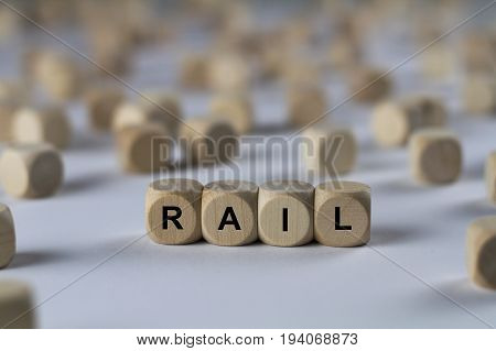 Rail - Cube With Letters, Sign With Wooden Cubes