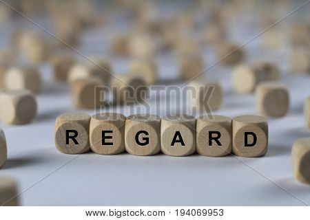 Regard - Cube With Letters, Sign With Wooden Cubes