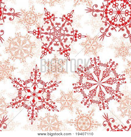 Seamless snowflakes pattern, vector illustration