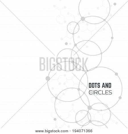 Vertical vector background with dots and circles.