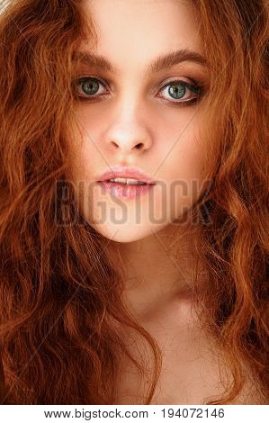 Porter is a beautiful red-haired girl with beautiful . Natural beauty, natural hair color.Ginger