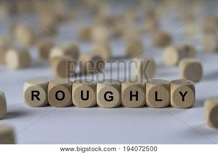 Roughly - Cube With Letters, Sign With Wooden Cubes