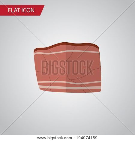 Isolated Meat Flat Icon. Beef Vector Element Can Be Used For Beef, Meat, Food Design Concept.