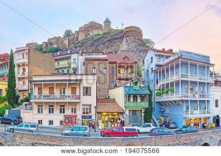 The Quarters Of Abanotubani District In Tbilisi