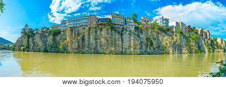 The Rocky Bank Of Kura In Tbilisi