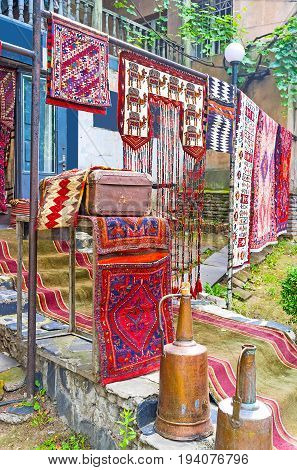 Old Carpets In Tbilisi Street