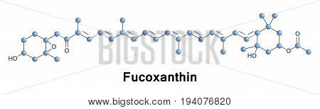 Fucoxanthin is a xanthophyll with formula C42H58O6. It is found as an accessory pigment in the chloroplasts of brown algae and most other heterokonts