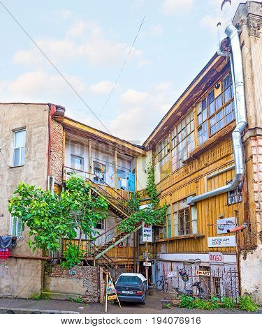 Panorama Of Traditional Tbilisi Townhouse