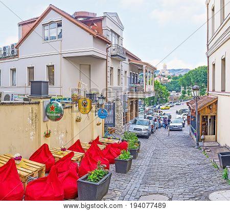 Cozy Outdoor Cafe In Tbilisi