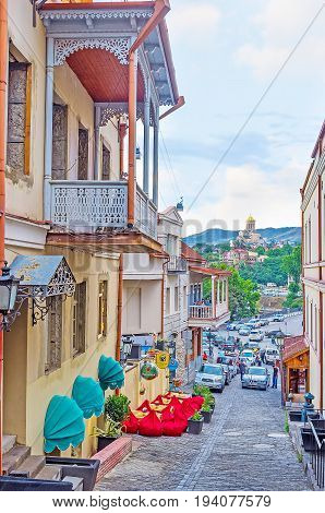 The Descent From Sololaki Hill In Tbilisi