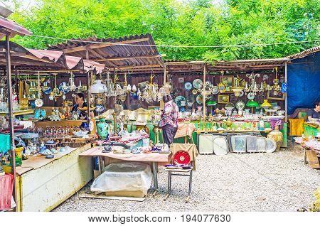 Antique Stalls Of Tbilisi Flea Market