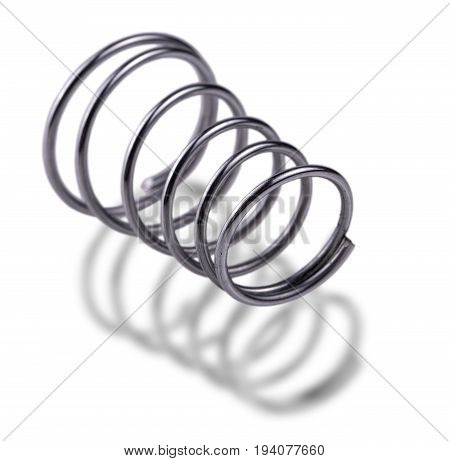 metal spring isolated on white background ,