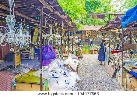 The Vintage Chandeliers In Tbilisi Flea Market