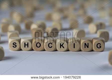 Shocking - Cube With Letters, Sign With Wooden Cubes