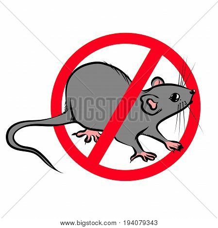 The prohibition sign of the rat is a home parasite