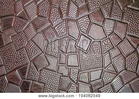 Dark stained glass texture surface for background.