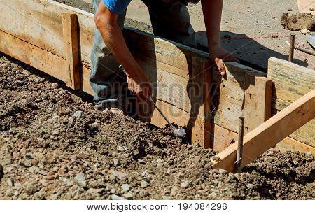 Repair work on pavement Preparation for pavement pavement