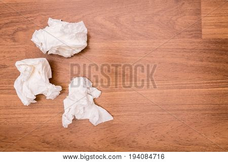 Used Tissue paper that Wiped the semen was left on the floor beside the bed.