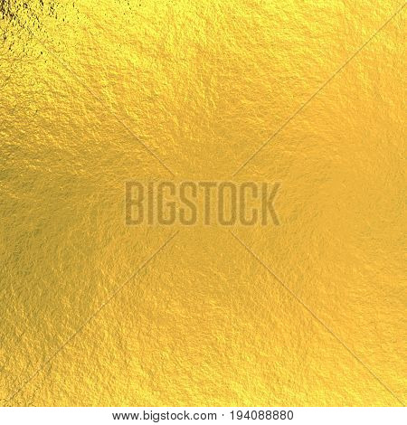 3d rendering golden plate background with rough texture