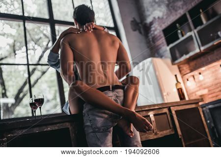 Couple On Kitchen