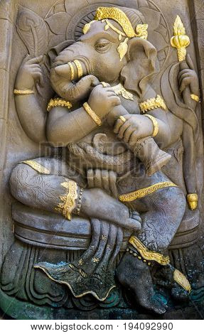 God Ganesh the Hindu faith and beliefs are sacred.