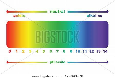 pH scale value , ph paper test , vector isolated
