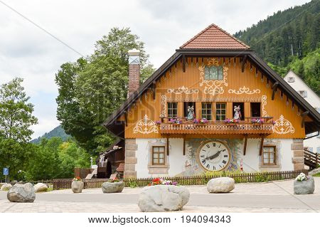 House of the Hofgut Sternen cuckoo in the black forest in Germany