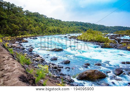 Scenic Landscape With Mountain River