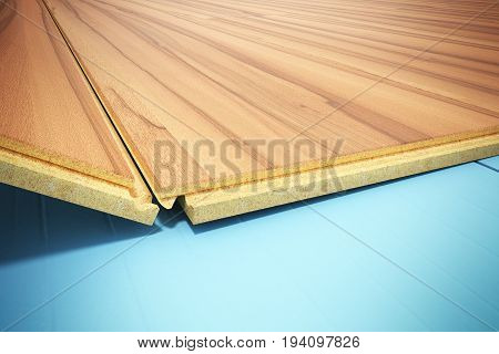Installing Wooden Laminate Flooring With Insulation And Soundproofing Sheets Laying Laminate Floorin