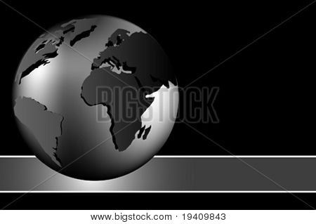 Abstract background - world globe - black and white