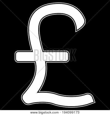 Pound Sterling  The White Color Icon .