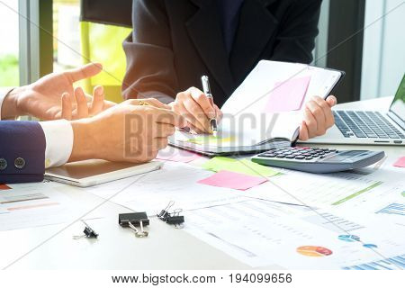 Executives are instructing secretaries to take notes,Concept image of business executives working and having a secretary take notes.