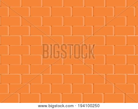 Abstract texture stained stucco light red paint brick wall background in rural room vector blocks of stonework technology color horizontal architecture wallpaper. Vector illustration brick wall background