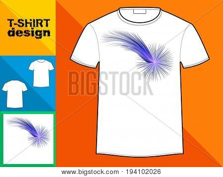 Template T-shirt with an trendy design: Comet.