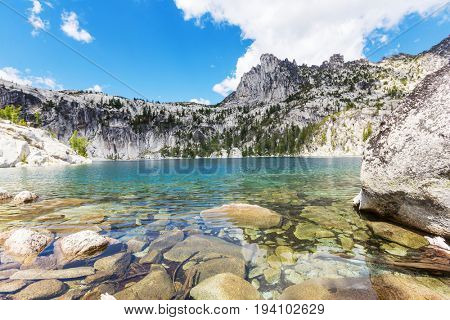 Beautiful Alpine lakes wilderness area  in Washington, USA