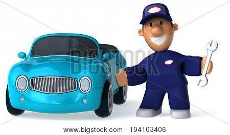 Fun mechanic - 3D Illustration