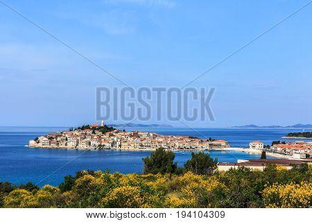 stunning islet of Primosten ion dalmatian coast of Croastia