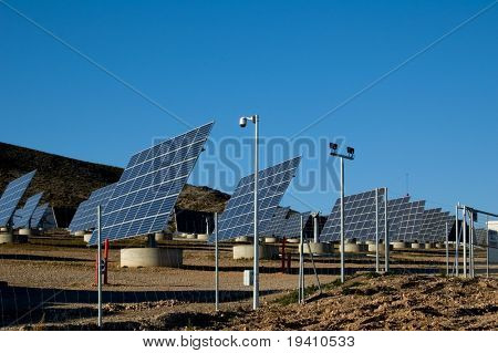 Solar power plant - Power station in Spain