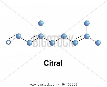 Citral or lemonal is either a pair or a mixture of terpenoids with the molecular formula C10H16O