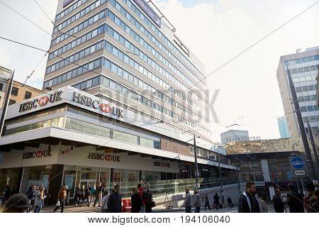 Birmingham, UK - 6 November 2016: Exterior Of HSBC Bank Building In Birmingham