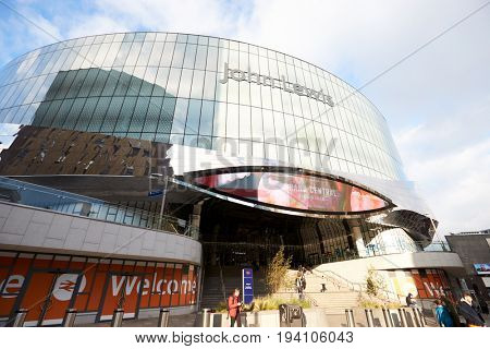Birmingham, UK - 6 November 2016: Exterior Of Birmingham New Street Train Station