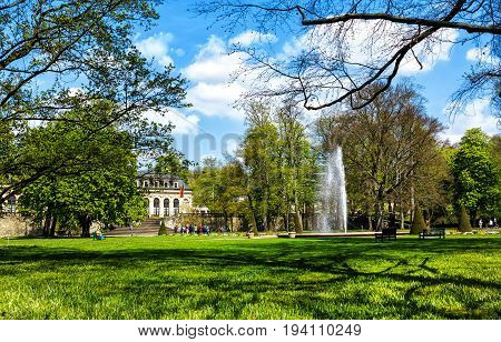 Castle Garden in front of Orangery in historical Fulda, Germany