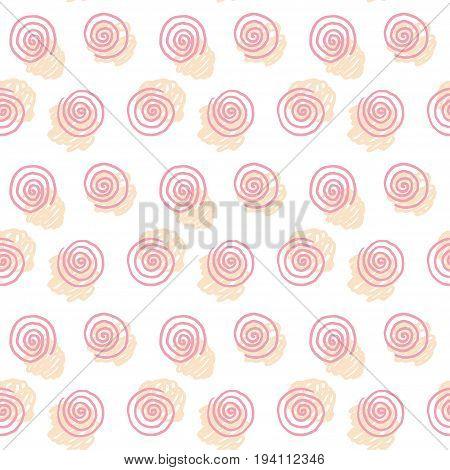 spiral pale color seamless pattern vector illustration