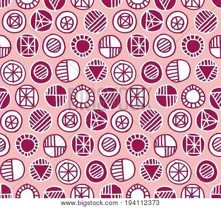 pale rose color vector seamless pattern. illustration background