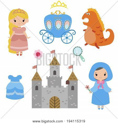 Little princesses set. Princess and Fairy Items.