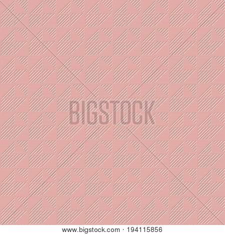 pale rose color light 3d geometric pattern vector illustration