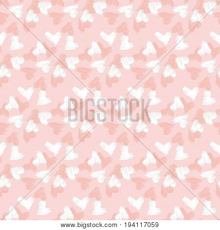 abstract heart seamless pattern. pale color vector illustration