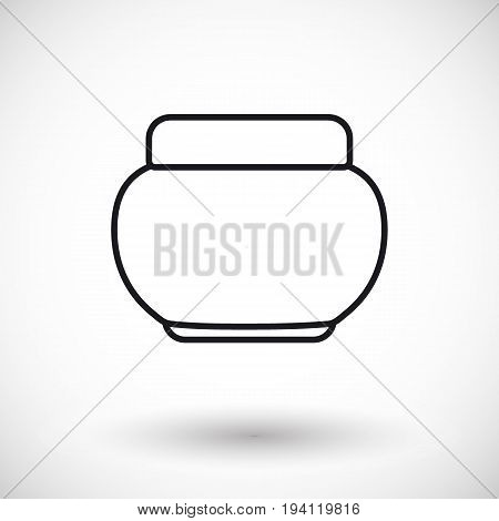 Cosmetics product vector thin line web icon Outline design of design of skincare hygiene or beauty bottle with round shadow vector illustration with shadows